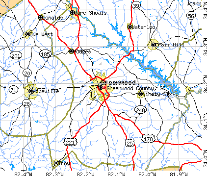 Greenwood County, SC map