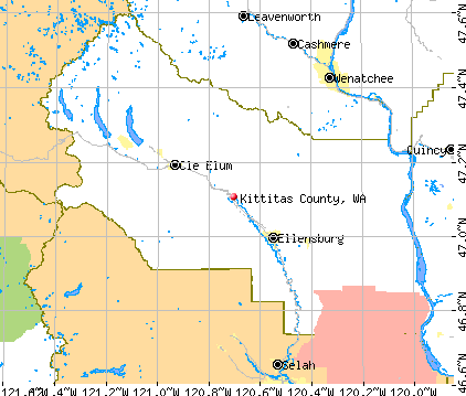 Kittitas County, WA map