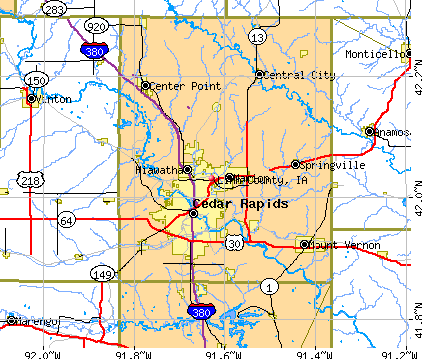 Linn County, IA map