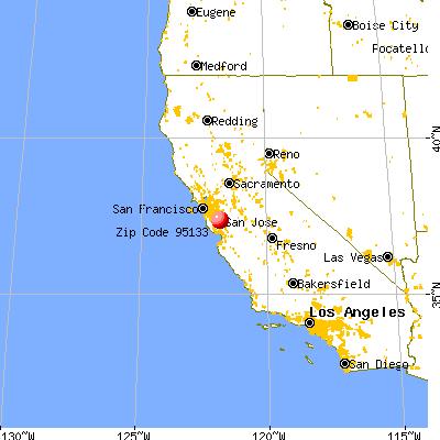 San Jose California Map 95133 Zip Code (San Jose, California) Profile   homes, apartments  San Jose California Map